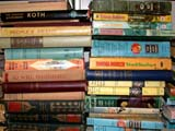 OCC ANT MIS  SK  CWN02D0140D                    USED BOOKS PILED ON SHELFEMPORIUM ANTIQUE MALL    SASKATOON                           07..© CLARENCE W NORRIS           ALL RIGHTS RESERVEDANTIQUES;BOOKS;OCCUPATIONS;PLAINS;PRAIRIES;READING;RETAIL;SASKATCHEWAN;SASKATOON;SHOPPING;SK_   LONE PINE PHOTO                  (306) 683-0889
