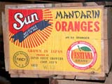 OCC ANT MIS  SK  CWN02D0151D                 SUN MANDARIN ORANGE CRATE AND LABELEMPORIUM ANTIQUE MALL   SASKATOON                           07..© CLARENCE W NORRIS           ALL RIGHTS RESERVEDANTIQUES;ASIAN;BOXES;COLLECTIBLES;CRATES;FOOD;FRUIT;IMPORTS;JAPAN;MANDARIN;OCCUPATIONS;ORANGES;PLAINS;PRAIRIES;SASKATCHEWAN;SASKATOON;SIGNS;SK_;WOOD    LONE PINE PHOTO                  (306) 683-0889
