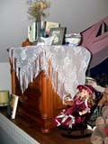 OCC CAR HOM  SK  CWN02T0318D  VTSHAWL ON DRESSER, DOLL AND TEDDY BEAR DISPLAYHEART'S HAVEN, VICTORIAN PERSONAL CARE HOMELUMSDEN                                 05..© CLARENCE W. NORRIS           ALL RIGHTS RESERVEDANTIQUES;CARE_HOME;DOLLS;COLLECTIBLES;FURNITURE;HOMES;LUMSDEN;OCCUPATIONS;PLAINS;PRAIRIES;SASKATCHEWAN;SK_;TOYS;VICTORIAN;VTL LONE PINE PHOTO                  (306) 683-0889
