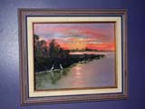 OCC CAR HOM  SK  CWN02T0332D SUNSET PAINTING BY BONNIE WARDHEART'S HAVEN, VICTORIAN PERSONAL CARE HOMELUMSDEN                                 05..© CLARENCE W. NORRIS           ALL RIGHTS RESERVEDANTIQUES;ART;CARE_HOME;HOMES;LUMSDEN;OCCUPATIONS;PAINTINGS;PLAINS;PRAIRIES;SASKATCHEWAN;SK_;VICTORIANLONE PINE PHOTO                  (306) 683-0889