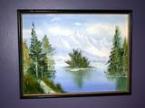 OCC CAR HOM  SK  CWN02T0333D MOUNTAIN PAINTING BY BONNIE WARDHEART'S HAVEN, VICTORIAN PERSONAL CARE HOMELUMSDEN                                 05..© CLARENCE W. NORRIS           ALL RIGHTS RESERVEDANTIQUES;ART;CARE_HOME;HOMES;LUMSDEN;OCCUPATIONS;PAINTINGS;PLAINS;PRAIRIES;SASKATCHEWAN;SK_;VICTORIANLONE PINE PHOTO                  (306) 683-0889
