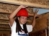 OCC CON RES  SK  CWN02D08902D  NMR     GIRL INSTALLING FOAM INSULATION IN RAFTERSSASKATOON HABITAT FOR HUMANITY - 2002SASKATOON                            07/16© CLARENCE W. NORRIS            ALL RIGHTS RESERVEDCARPENTRY;CONSTRUCTION;FEMALE;HABITAT_FOR_HUMANITY;HARD_HATS;OCCUPATIONS;PEOPLE;PLAINS;PRAIRIES;RESIDENTIAL;SAFETY;SASKATCHEWAN;SASKATOON;SK_;VOLUNTEERS;VTLLONE PINE PHOTO                  (306) 683-0889
