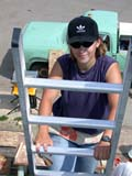 OCC CON RES  SK  CWN02D1025D  NMR  VT      WOMAN CLIMBING LADDER AT CONSTRUCTION SITEHABITAT FOR HUMANITY - 2002SASKATOON                            07/16© CLARENCE W. NORRIS            ALL RIGHTS RESERVEDCARPENTRY;CONSTRUCTION;FEMALE;HABITAT_FOR_HUMANITY;HOMES;LADDERS;OCCUPATIONS;PEOPLE;PLAINS;PRAIRIES;RESIDENTIAL;SAFETY;SASKATCHEWAN;SASKATOON;SK_;VOLUNTEERS;VTL LONE PINE PHOTO                  (306) 683-0889