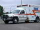 SIDE VIEW OF AMBULANCE, SASKATOON