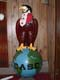 BALD EAGLE ON GLOBE WITH AMERICAN AND CANADIAN COLOURS AND HELMET, WAKAW