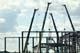 CRANES USED TO CONSTRUCT NEW SOCCER CENTER, SASKATOON