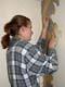 GIRL STRIPPING OFF WALLPAPER, SASKATOON