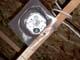 LIGHT OUTLET ON CEILING WITH PLASTIC VAPOUR BARRIER SHIELD, SASKATOON