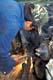 MAN USING WELDING TORCH TO CUT METAL, BROADACRES