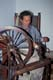 LADY SPINNING WOOL, LOWER FORT GARRY NATIONAL HISTORIC SITE
