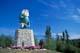 STATUE OF JOSIAH FLINABBATEY FLONATIN IN SUMMER, FLIN FLON