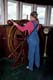 GIRL AT SHIP'S WHEEL, MARINE MUSEUM OF MANITOBA, SELKIRK