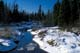 ICE MELTING ON CREEK, WHITESHELL PROVINCIAL PARK