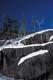 SNOW COVERED ROCK LEDGES, WHITESHELL PROVINCIAL PARK