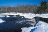 SEA SPR SCE  MB  PNB2002033DRAINBOW FALLS IN SPRINGWHITESHELL PROV PARK     ../..                   © PAUL BROWNE                ALL RIGHTS RESERVEDBOREAL;MANITOBA;MB_;RAINBOW_FALLS;SCENES;SHIELD;SNOW;SPRING;TREES;WATER;WATERFALLS;WHITESHELL_PPLONE PINE PHOTO              (306) 683-0889
