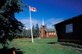 LOC COL MIS  NT  KJM0013711DLOG CHURCH AND CANADIAN FLAGOUR LADY OF THE SNOWS CHURCHCOLVILLE LAKE                      08                   © KEVIN MORRIS                   ALL RIGHTS RESERVEDARCTIC;BUILDINGS;CANADIAN;CATHOLIC;CHURCHES;COLVILLE_LAKE;FLAGS;LOG_HOUSES;NORTHWEST;NORTHWEST_TERRITORIES;NT_;NWT;OUR_LADY_OF_THE_SNOWS_CHURCH;RELIGION;STRUCTURES;SUMMER;TERRITORIESLONE PINE PHOTO              (306) 683-0889