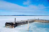 LOC COL MIS  NT  KJM0213010DDOCK IN THAWING LAKECOLVILLE LAKE                    05/..© KEVIN MORRIS                 ALL RIGHTS RESERVEDARCTIC;BREAKUP;COLVILLE_LAKE;DOCKS;ICE;LAKES;NORTHWEST;NORTHWEST_TERRITORIES;NT_;NWT;SCENES;SPRING;TERRITORIESLONE PINE PHOTO              (306) 683-0889