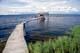 DOCK ON SUMMER LAKE, COLVILLE LAKE