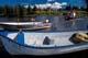 BOATS AND LOG BUILDINGS, COLVILLE LAKE LODGE, COLVILLE LAKE