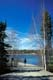 MAN WALKING ON TRAIL, FRAME LAKE, YELLOWKNIFE