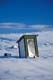 OUTHOUSE ON WINTER BARRENS, HOLMAN