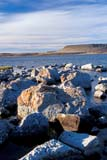 LOC HOL MIS  NT  KJM0112811D  VTROCKS ON SHORELINEHOLMAN                               08                  © KEVIN MORRIS                   ALL RIGHTS RESERVEDARCTIC;BAYS;BEAUFORT_SEA;HOLMAN;NORTHWEST;NORTHWEST_TERRITORIES;NT_;NWT;ROCKS;SHORELINE;SKY;SUMMER;TERRITORIES;VICTORIA_ISLAND;VTL;WATERLONE PINE PHOTO              (306) 683-0889