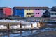 MULTI-COLOURED ROW HOUSES, INUVIK