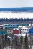 LOC INU MIS  NT  KJM0005304D  VTCOLOURED ROW HOUSES AND RIVERINUVIK                                   06                  © KEVIN MORRIS                   ALL RIGHTS RESERVEDARCTIC;BUILDINGS;HOMES;INUVIK;MULTI_UNIT_DWELLINGS;NORTHWEST;NORTHWEST_TERRITORIES;NT_;NWT;RIVERS;STRUCTURES;SUMMER;TERRITORIES;TOWNS;TREES;VTL;WATERLONE PINE PHOTO              (306) 683-0889