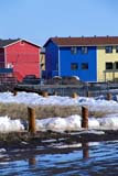 LOC INU MIS  NT  KJM0005304D  VTMULTI-COLOURED ROW HOUSESSNOW STILL ON GROUNDINUVIK                                   06                  © KEVIN MORRIS                   ALL RIGHTS RESERVEDARCTIC;BUILDINGS;COLOUR;HOMES;INUVIK;MELTWATER;MULTI_UNIT_DWELLINGS;NORTHWEST;NORTHWEST_TERRITORIES;NT_;NWT;SNOW;STRUCTURES;SUMMER;TERRITORIES;TOWNS;VTLLONE PINE PHOTO              (306) 683-0889