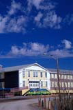 LOC INU MIS  NT  KJM0007202D  VTSIR ALEXANDER MACKENZIE SCHOOL AND SKYINUVIK                                 06                  © KEVIN MORRIS                   ALL RIGHTS RESERVEDARCTIC;BUILDINGS;CLOUDS;EDUCATION;INUVIK;NORTHWEST;NORTHWEST_TERRITORIES;NT_;NWT;SCHOOLS;SIR_ALEXANDER_MACKENZIE_SCHOOL;SKY;STRUCTURES;SUMMER;TERRITORIES;VTLLONE PINE PHOTO              (306) 683-0889