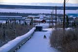 LOC INU MIS  NT  KJM0104401DSNOWMOBILE AND UTILIDORTOWN AND MOUNTAINS IN WINTERINUVIK                                 02                  © KEVIN MORRIS                   ALL RIGHTS RESERVEDACTIVITIES;ARCTIC;BUILDINGS;ENERGY;INUVIK;MOUNTAINS;NORTHWEST;NORTHWEST_TERRITORIES;NT_;NWT;OIL_AND_GAS;OUTDOORS;PEOPLE;POWER_LINES;SCENES;SNOW;SNOWMOBILES;TERRITORIES;TOWNS;TRANSPORTATION;TRAVEL;UTILIDORS;WINTERLONE PINE PHOTO              (306) 683-0889