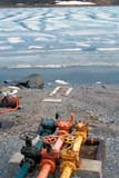 SEA SUM SCE  NT  KJM0007817D  VTCOLOURED FUEL VALVES AND SEA ICEHOLMAN                               06                   © KEVIN MORRIS                   ALL RIGHTS RESERVEDARCTIC;BEAUFORT_SEA;BREAKUP;FUEL;ICE;INDUSTRY;HOLMAN;NORTHWEST;NORTHWEST_TERRITORIES;NT_;NWT;OIL_AND_GAS;SEA_ICE;SUMMER;TERRITORIES;VALVES;VICTORIA_ISLAND;VTL;WATERLONE PINE PHOTO              (306) 683-0889