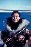 SEA SUM SCE  NU  MTT1000036D  VTWOMAN IN TRADITIONAL INUIT COSTUMECAMBRIDGE BAY                  07/..© MIKE TOBIN                     ALL RIGHTS RESERVEDABORIGINAL;ARCTIC;CAMBRIDGE_BAY;COSTUMES;CULTURE;FEMALE;FIRST;FIRST_NATIONS;INUIT;NATIONS;NORTH;NU_;NUNAVUT;PEOPLE;SUMMER;VTLLONE PINE PHOTO              (306) 683-0889