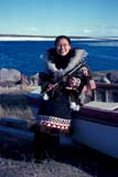 SEA SUM SCE  NU  MTT1000037D  VTWOMAN IN TRADITIONAL INUIT COSTUMECAMBRIDGE BAY                  07/..© MIKE TOBIN                     ALL RIGHTS RESERVEDABORIGINAL;ARCTIC;CAMBRIDGE_BAY;COSTUMES;CULTURE;FEMALE;FIRST;FIRST_NATIONS;INUIT;NATIONS;NORTH;NU_;NUNAVUT;PEOPLE;SUMMER;VTLLONE PINE PHOTO              (306) 683-0889
