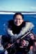 WOMAN IN TRADITIONAL INUIT COSTUME, CAMBRIDGE BAY