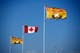 NEW BRUNSWICK AND CANADA FLAGS, PORT ELGIN