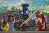 SEA AUT SCE  NB  CRS10B0884DXWALL MURAL OF CHILDREN AND TRAINSUSSEX                               09© CLIFF SANDESON              ALL RIGHTS RESERVEDART;ATLANTIC;ATUTMN;BRUNSWICK;CHILDREN;EAST_COAST;HISTORIC;MARITIMES;MURALS;NB_;NEW;NEW_BRUNSWICK;PAINTINGS;SCENES;SUSSEX;TRAINSLONE PINE PHOTO              (306) 683-0889