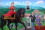 SEA AUT SCE  NB  CRS10B0885DXWALL MURAL OF THE ROYAL FAMILYSUSSEX                               09© CLIFF SANDESON              ALL RIGHTS RESERVEDART;ANIMALS;ATLANTIC;ATUTMN;BRUNSWICK;EAST_COAST;FAMILIES;HORSES;MARITIMES;MURALS;NB_;NEW;NEW_BRUNSWICK;PRINCE_PHILIP;SCENES;SIGNS;SUSSEX;STREETS;QUEEN_ELIZABETHLONE PINE PHOTO              (306) 683-0889