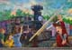 WALL MURAL OF CHILDREN AND TRAIN, SUSSEX