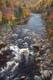 FALL COLOURS, MACKENZIE RIVER, PLEASANT BAY, CAPE BRETON ISLAND