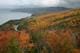 FALL COLOURS, VIEW FROM MACKENZIE MOUNTAIN, PLEASANT BAY, CABOT TRAIL, CAPE BRETON ISLAND