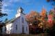 CHURCH IN AUTUMN, CABOT TRAIL, INGONISH, CAPE BRETON ISLAND