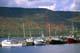 FISHING BOATS AND AUTUMN SHORE, DINGWALL, CAPE BRETON ISLAND