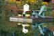 ADIRONDACK CHAIRS ON DOCK, LAKE SCUGOG