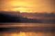 SUNRISE THROUGH MIST ON LAKE, MUSKOKA