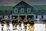 SEA SUM SCE  ON  BMM1001228DHOCKEY MURALONTARIO                             07/..© BEV MCMULLEN                ALL RIGHTS RESERVEDART;CENTRAL;HISTORIC;HOCKEY;MURALS;ON_;ONTARIO;SPORTS;SUMMERLONE PINE PHOTO              (306) 683-0889