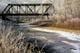 TRAIN BRIDGE OVER FROSTY CREEK, FISH CREEK PARK, CALGARY