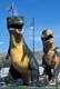 STATUES OF WORLD'S LARGEST T-REX, DRUMHELLER