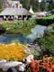 FLOWER GARDENS, STONE SUMMER HOUSE AND POND, BANFF