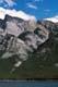 SAILBOAT AND MOUNTAINS, LAKE MINNEWANKA, BANFF NATIONAL PARK